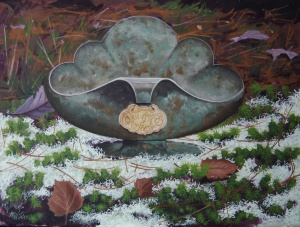 Footed-Bowl-on-Lichen